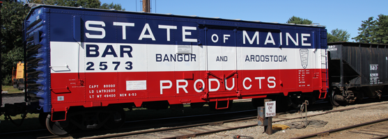 BAR State of Maine boxcar